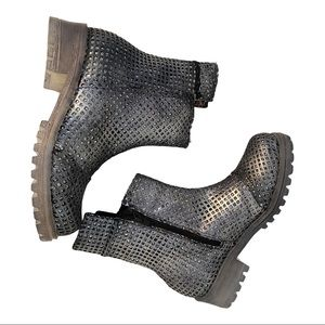 Papucei New Women's Boots Garson Silver Leather